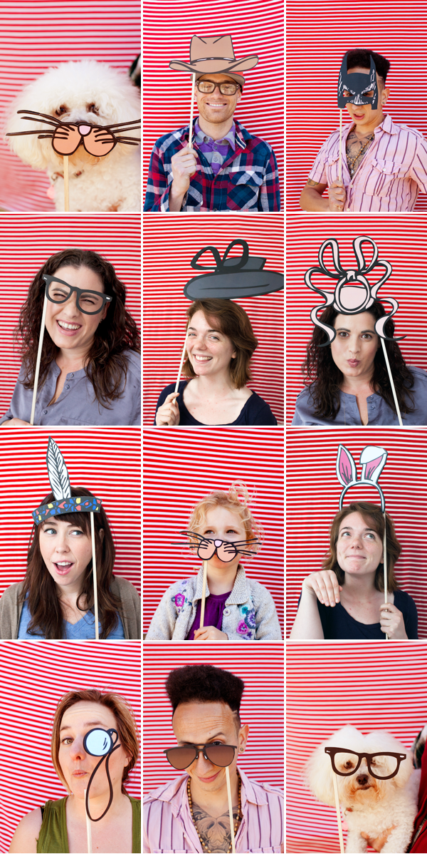 These photo booth props from Oh Happy Day