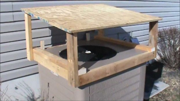 Heat Pump Cover For Ice Protection Shedplans Heat Pump Cover Heat Pump Air Conditioner Covers
