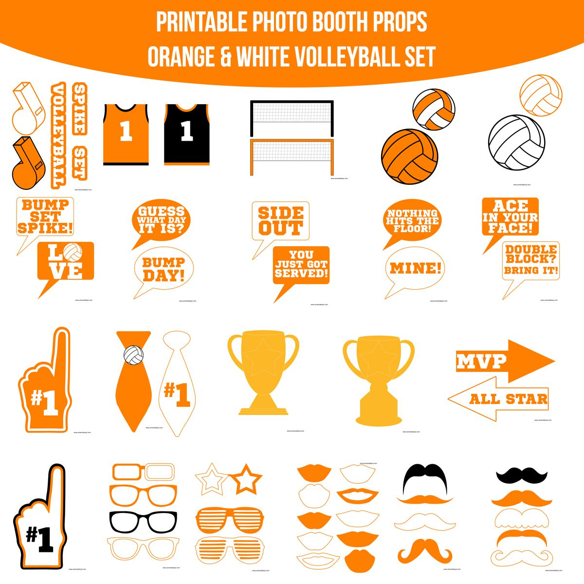 Pin By Laura Coyne On Volleyball Photobooth Props Printable Photo Booth Printable Designs