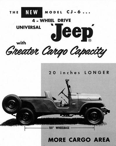 1960 Jeep Cj6 Universal Ad Jeep Cj6 Jeep Jeep Cj