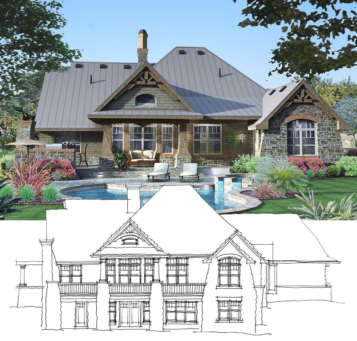Plan 95028RW Rockin' Mountain Home with Climbing and