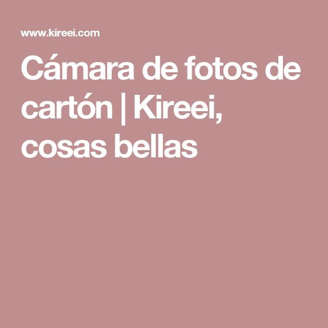 Cámara de fotos de cartón   Kireei, cosas bellas