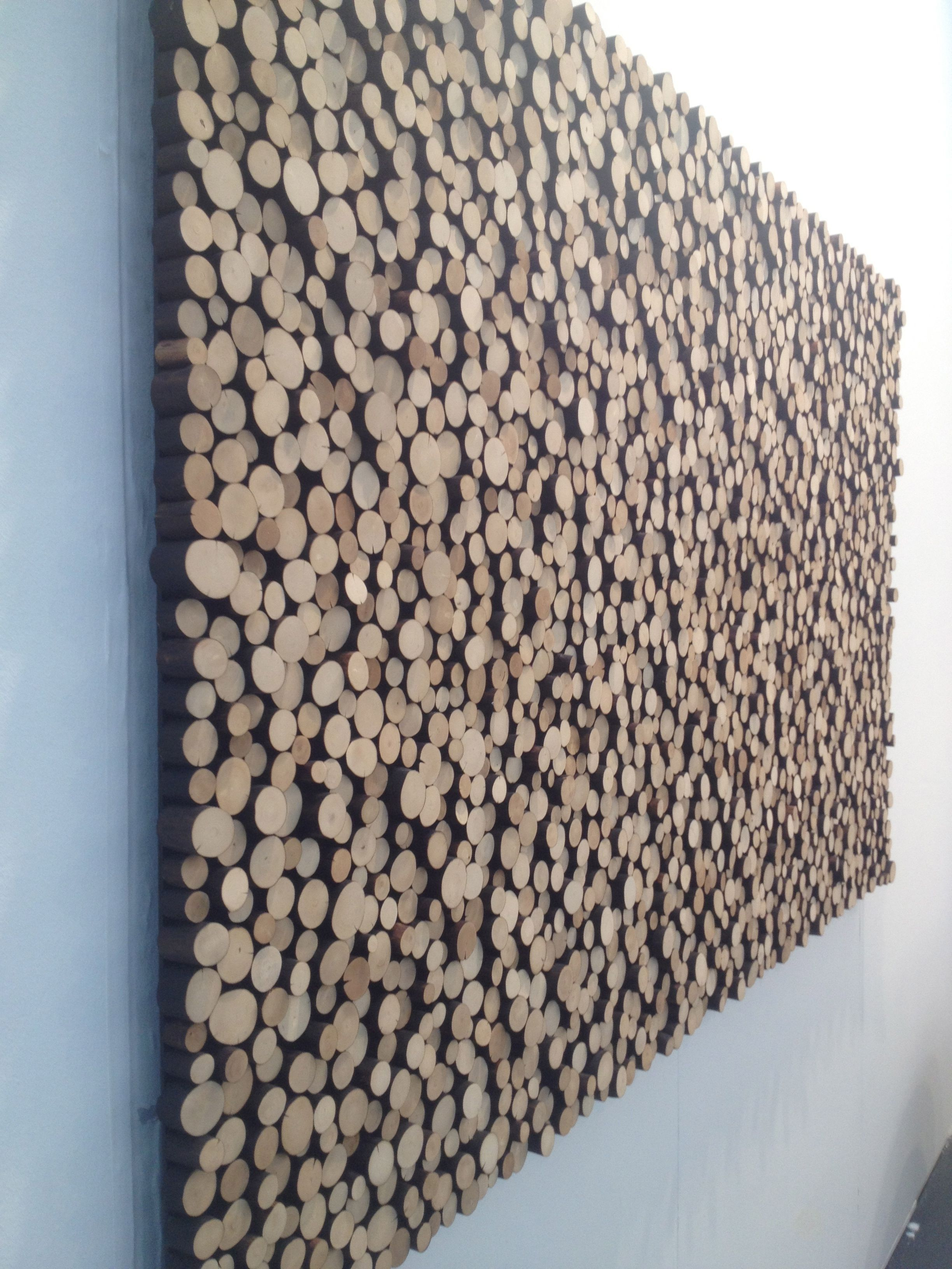 Interesting Wall Covering Done By An Artist At The Affordable Art Fair Inexpensive Artwork Diy Wall Art Wooden Wall Art