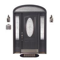 Reliabilt 30x80 steel door with Hampton glass and full view ...