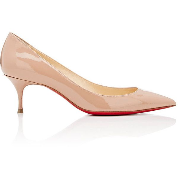 Christian Louboutin Patent Pigalle Follies Featuring Polyvore Womens Fashion Sh Kitten Heel Shoes Christian Louboutin Wedding Shoes Christian Louboutin Shoes