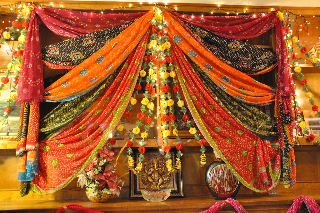 Flickr bangle ceremony deco outfits pinterest for Home decorations for indian wedding