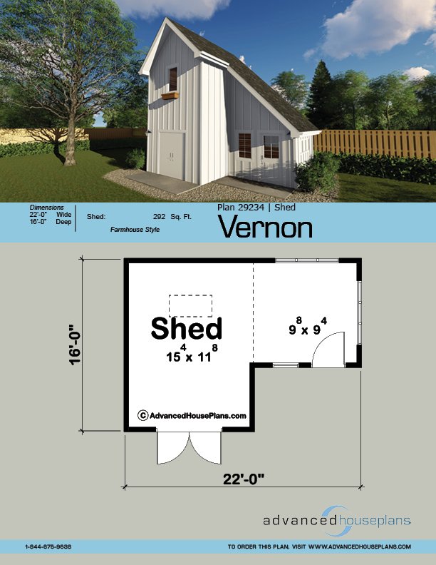 Shed Plan Vernon Farmhouse Sheds Shed Shed Plan