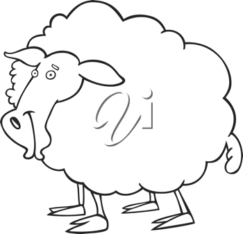 iCLIPART - Royalty Free Clipart Image of a Sheep