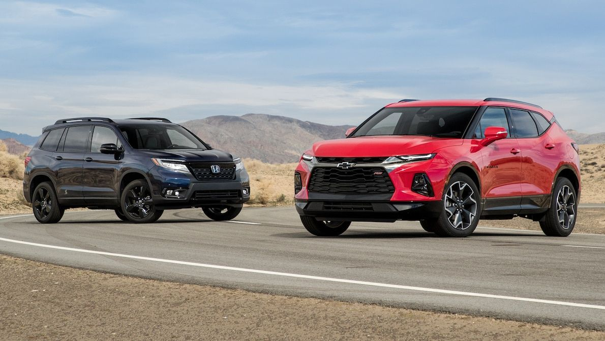 2019 Chevrolet Blazer vs. 2019 Honda Passport Comparison