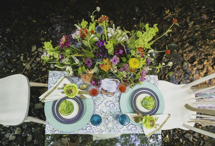 Chic Bohemian wedding tablescape | fabmood.com #bohemianwedding #weddingdecorations