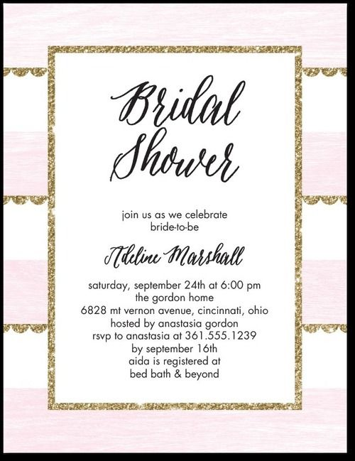 Glamorous Glitter Studio Basics Bridal Shower Invitations in – Wedding Paper Divas Bridal Shower Invitations