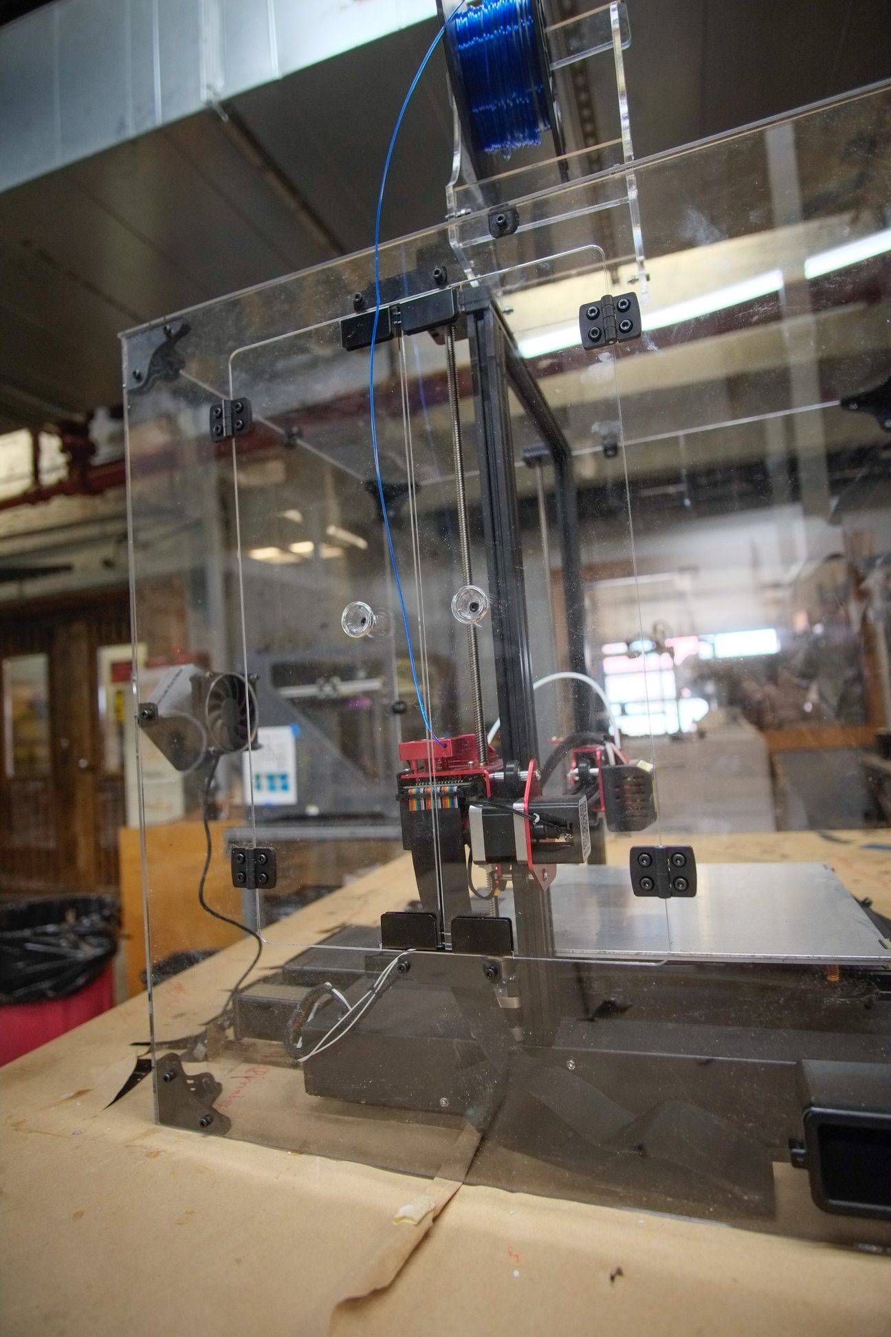 CR-10S Pro V1 & V2 Acrylic Enclosure Case Kit   3d printing. Magnetic latch. Metal 3d printer