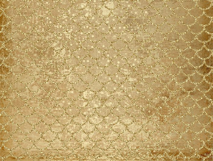 Kennedy Golden Fish Scale Backdrop: Peek A Bootique