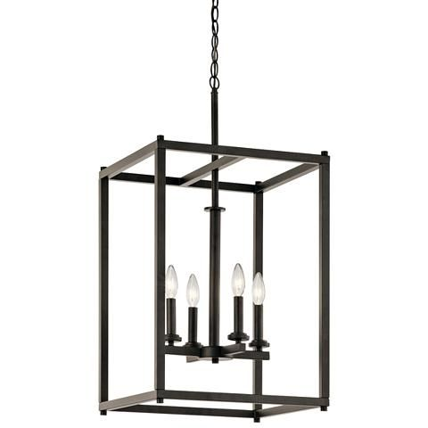 Kichler crosby 16 wide olde bronze 4 light foyer pendant 16w10