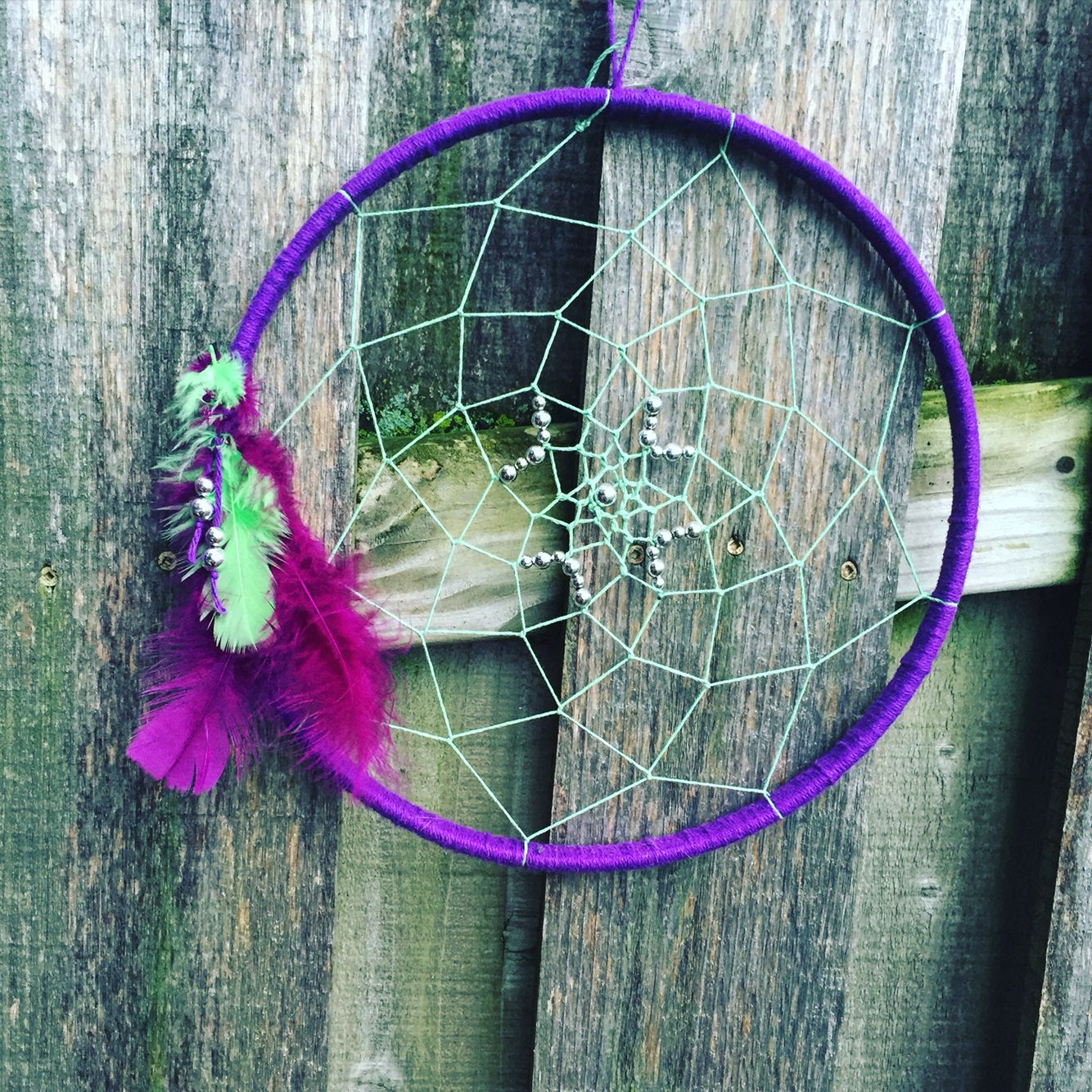 Dream catcher for sale  12in for $12 + $4 shipping  Email JohnsonDesignServices@gmail.com