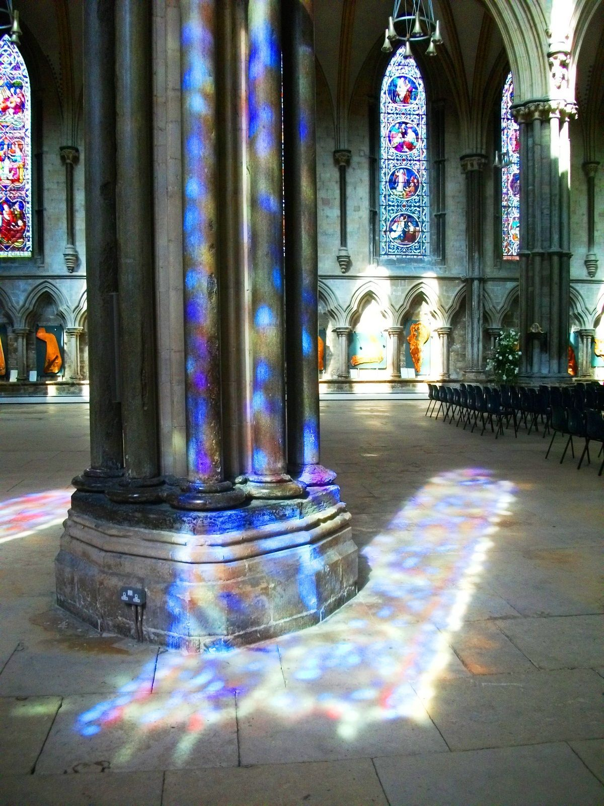 Sunlight through stained glass. Lincoln Cathedral. #StainedGlassChurch | Lincoln cathedral ...