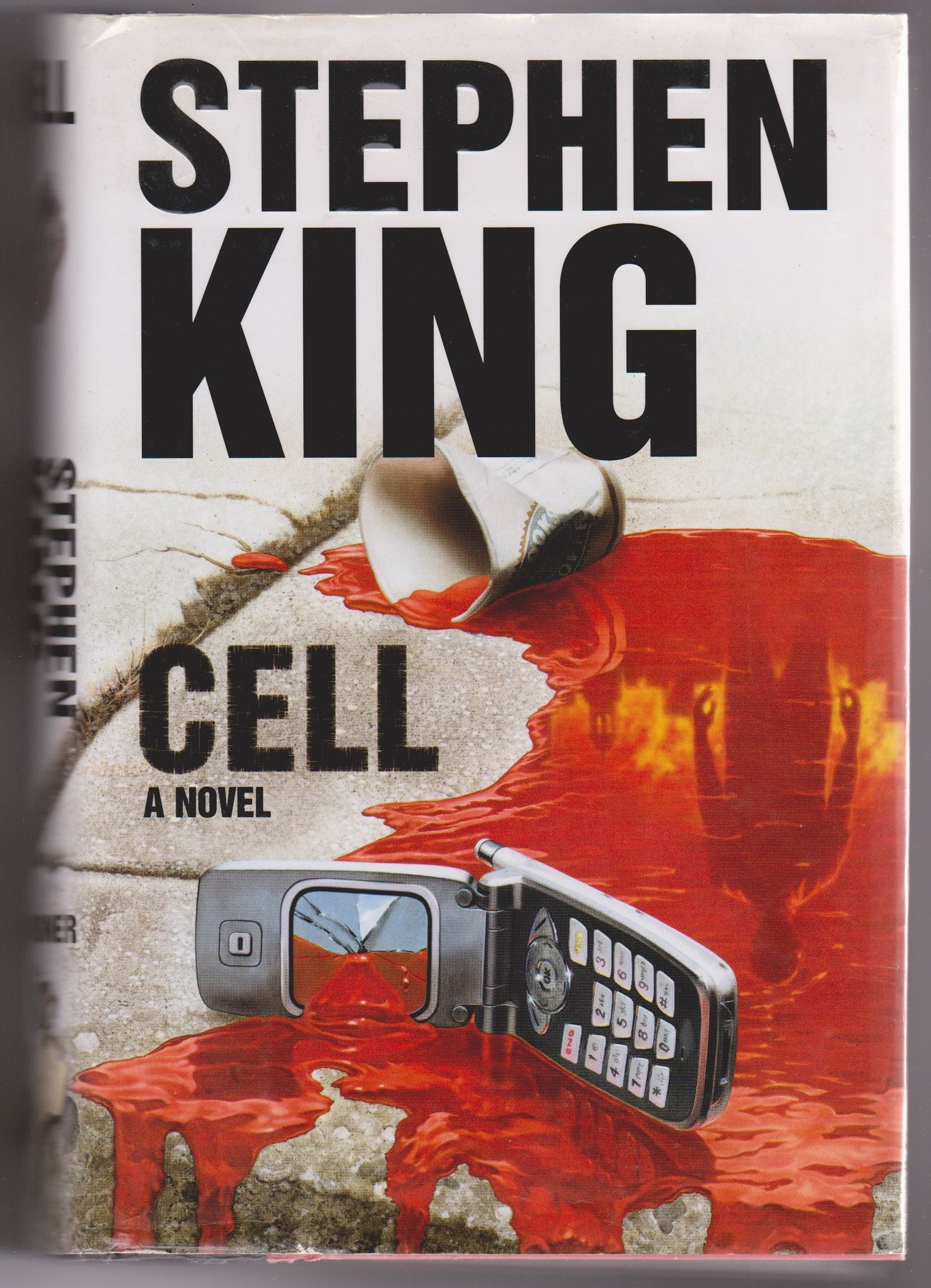 Stephen King Book Cover Art ~ Stephen king cell hardcover used books covers art