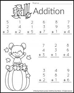 1st grade math and literacy worksheets with a freebie fall first addition worksheet for 1st grade math worksheets math first grade ibookread PDF