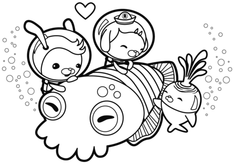 Cuddle With A Cuttlefish Coloring Page