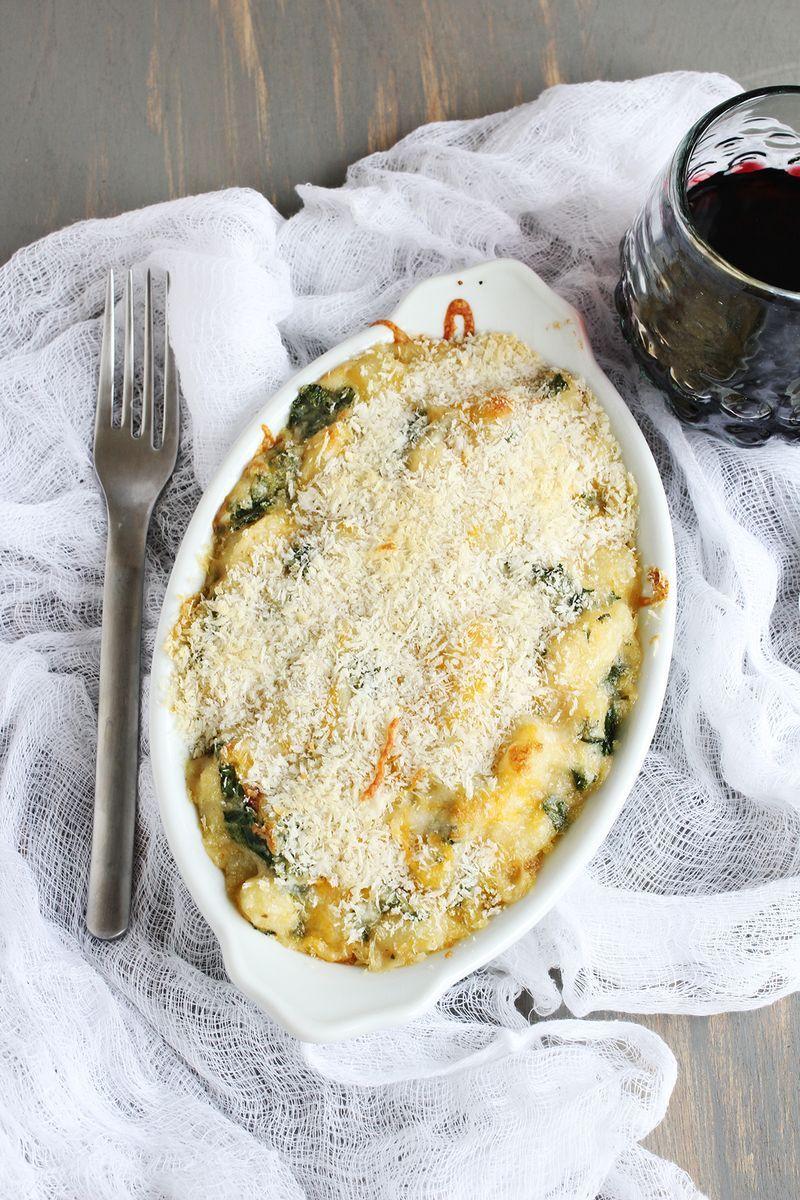 Kale + Garlic Baked Gnocchi