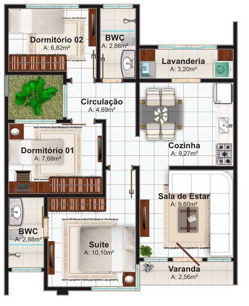 planos de casas pequenas una sola planta