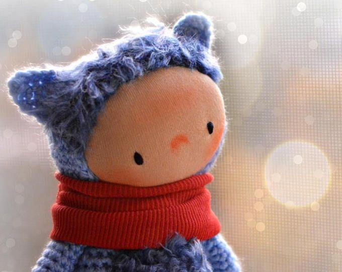 Amigurumi Cat Doll : Waldorf doll crochet cat doll wee amigurumi cat small animal doll
