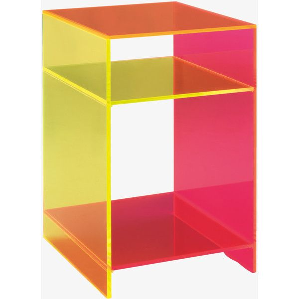 neon furniture. ebbie neon acrylic side table 965 dkk liked on polyvore featuring home furniture