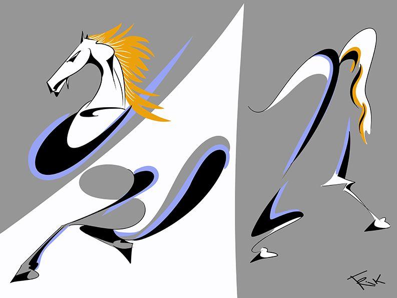Caballo Horse Caballodetroya Ilustracion Cartoon Dibujo
