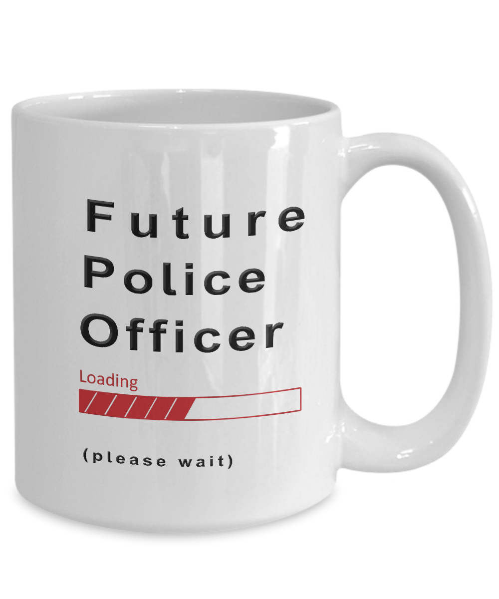 Funny Future Police Officer Coffee Mug Cup Gifts for Men