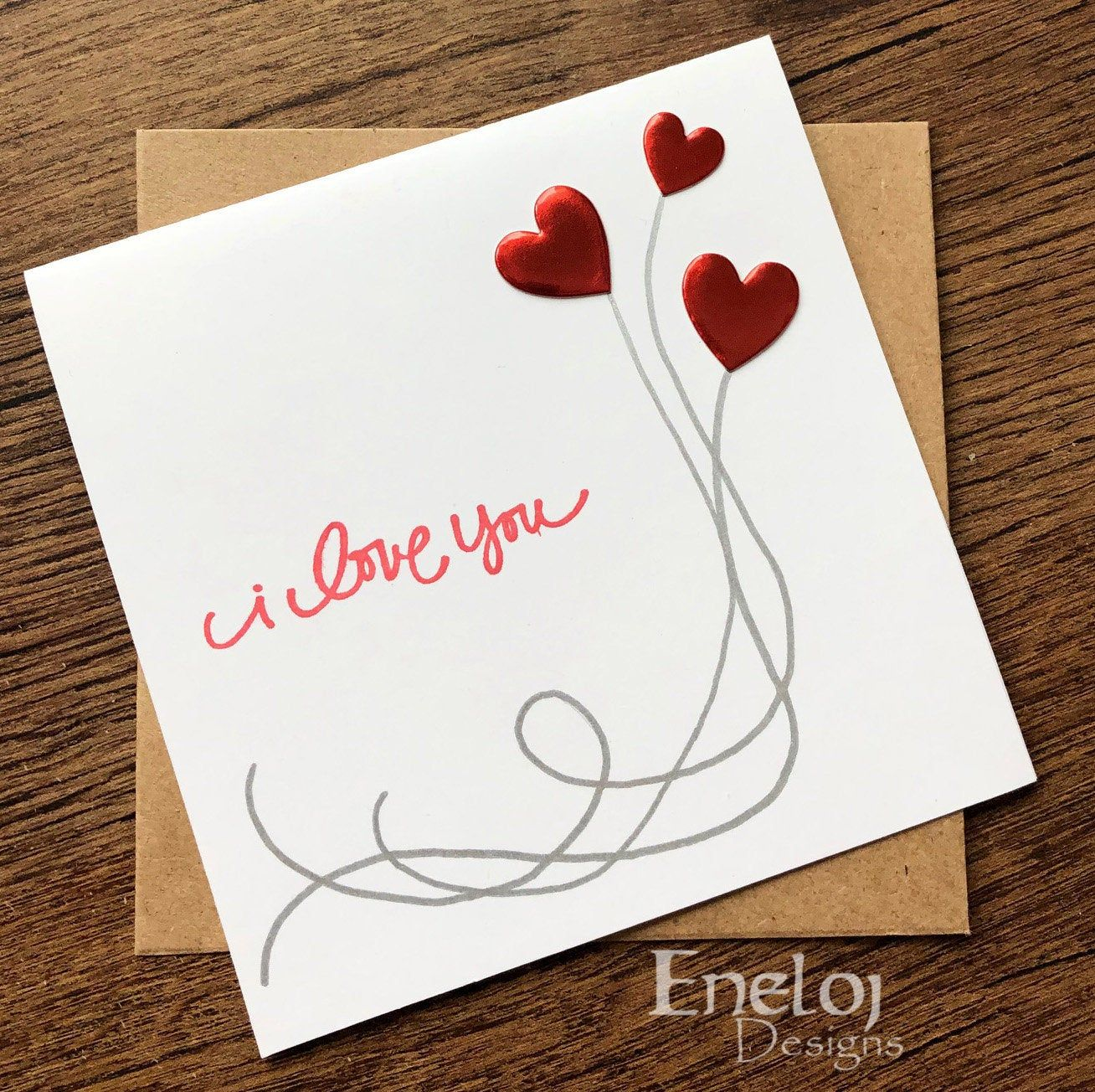 Valentine S Day Card I Love You Handmade Wedding Cards Blank