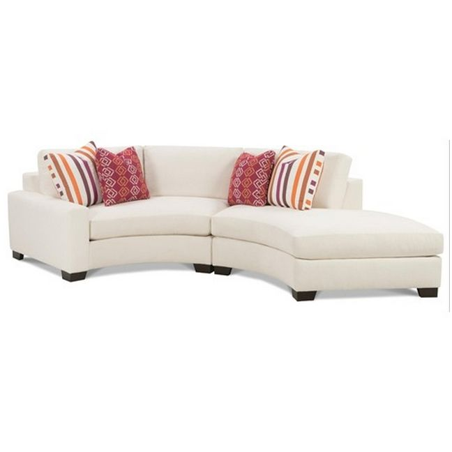 small curved sectional sofa