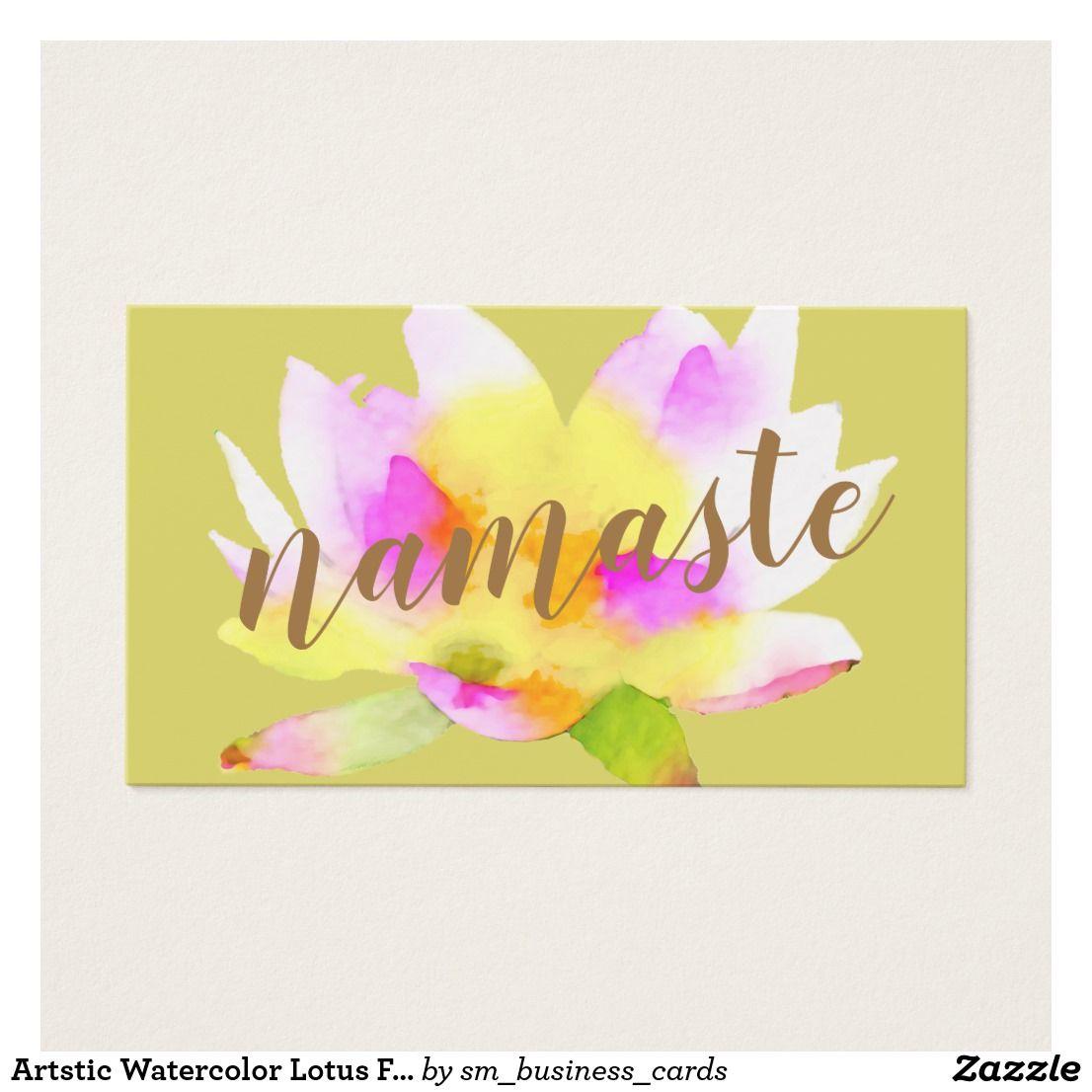 Artstic Watercolor Lotus Flower Business Card | Natural medicine ...