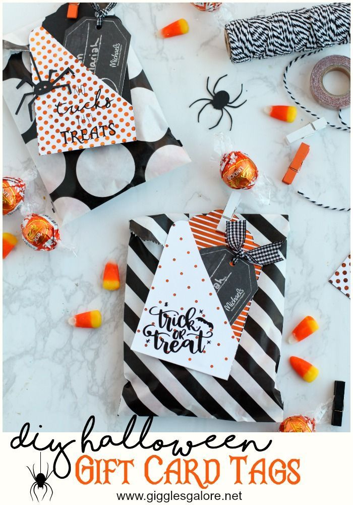 DIY Halloween Gift Card Tags Holidays - Halloween DIY Pinterest - halloween michaels