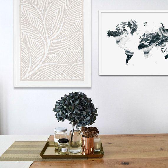Ornamental Wall Art. Tree Branch Motif Print. Light Beige Poster. Botanical Graphic Print. Minimal Décor. Folk Art Inspired Modern Design.  sc 1 st  Pinterest & Ornamental Wall Art. Tree Branch Motif Print. Light Beige Poster ...