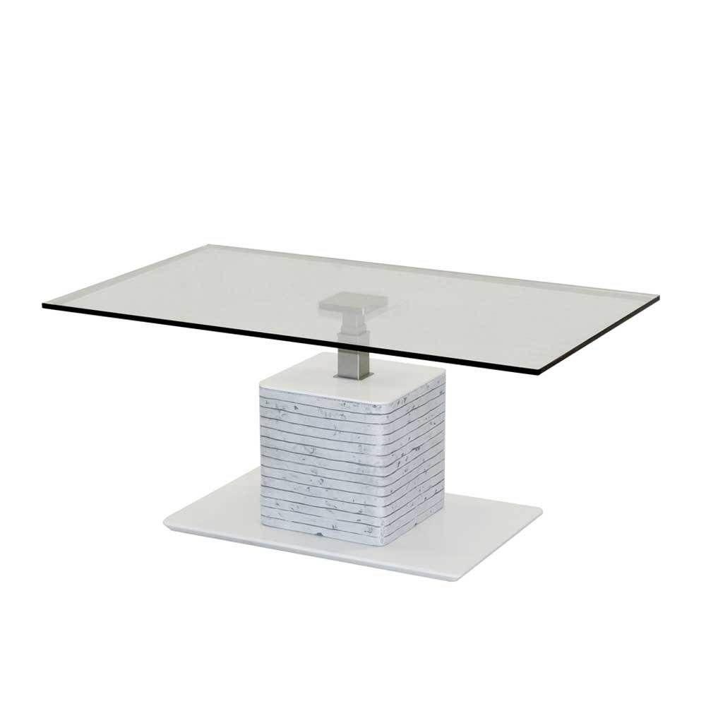 Design Couchtisch In Weiss Grau Beton Optik Hhenverstellbar Jetzt Bestellen Unter Moebelladendirektde Wohnzimmer Tische Couchtische Uid7dd68395