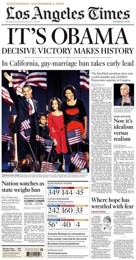 133 Years Of The Los Angeles Times Historical Newspaper Newspaper Headlines Front Page News