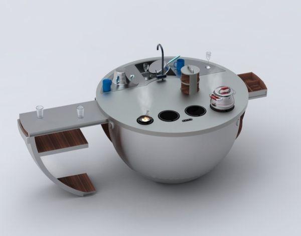 Küche mini 3d Modell-moderne Optik-Kugel förmig | Furniture ... | {Mini küchenzeile 30}