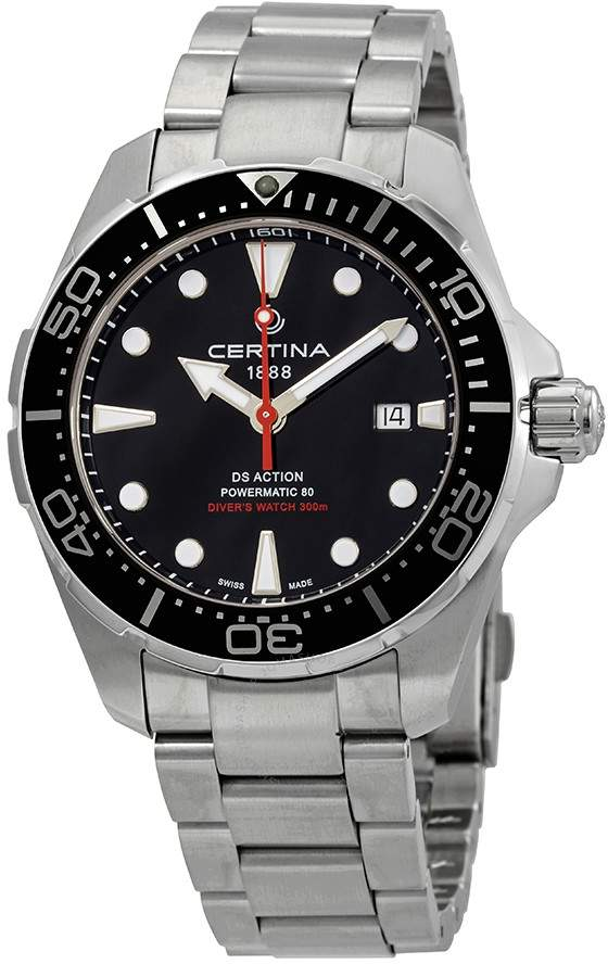 Certina Ds Action Diver Automatic Black Dial Men S Watch C032 407 11 051 00 In 2020 Watches For Men Luxury Watches For Men Automatic Watches For Men