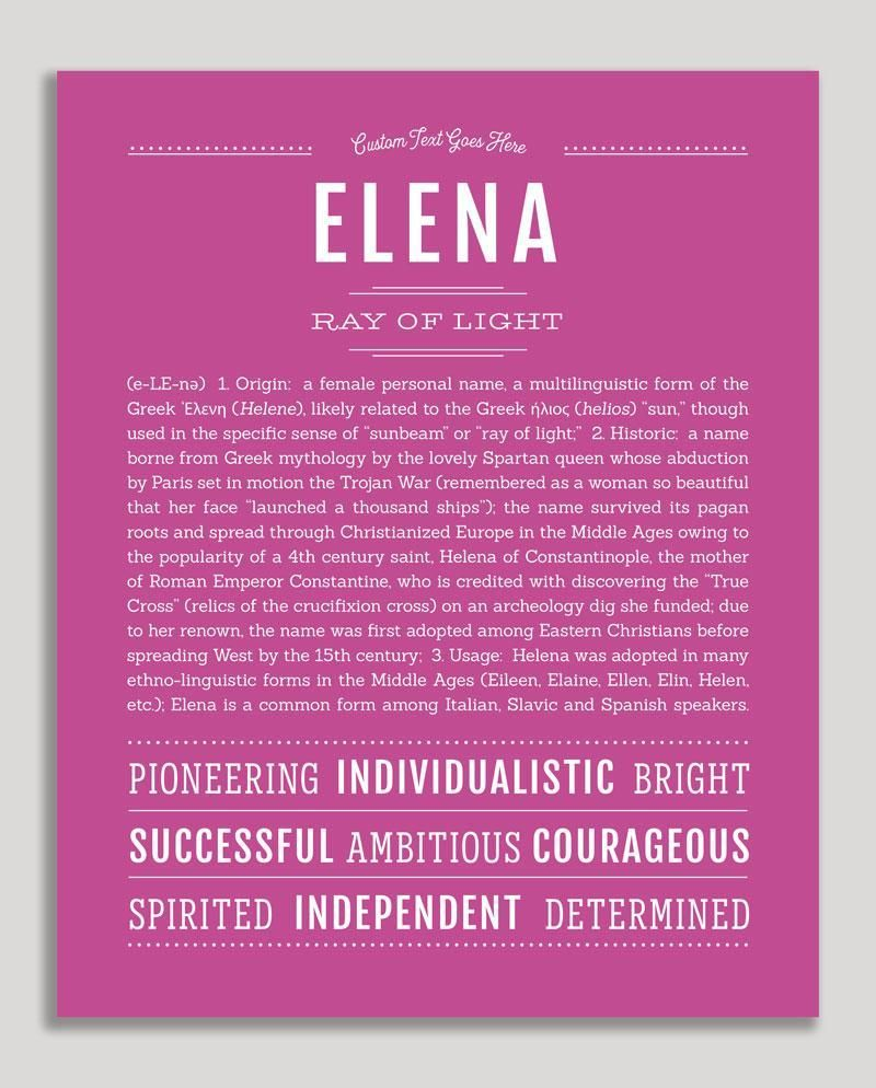 Elena   Classic Name Print (With images)   Personalized ...