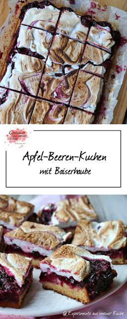 apfel beeren kuchen mit baiserhaube apfel kuchen und backen. Black Bedroom Furniture Sets. Home Design Ideas