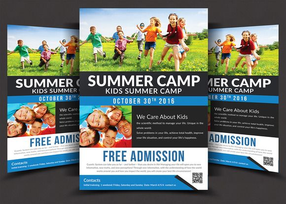 Kids Summer Camp Flyer Templates by AfzaalGraphics on - summer camp flyer template