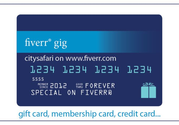 design a credit, gift, or membership card by citysafari - membership cards design