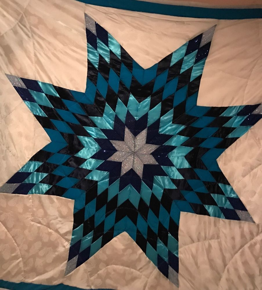 Beautiful Native American Lakota Sioux Hand Quilted Satin