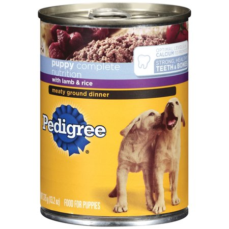 Pedigree Complete Nutrition Meaty Ground Lamb Rice Dinner Puppy