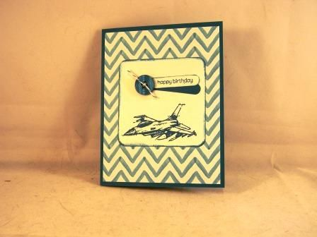 Retired Stampin' Up! airplane (jet) birthday card. masculine https://www.etsy.com/shop/moww