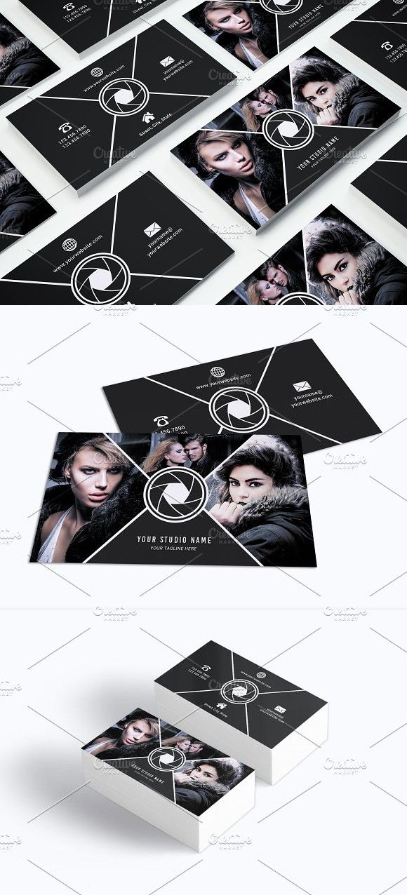 Business Card Template 017 Photoshop Creative Business Card