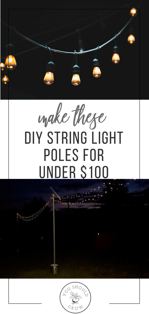 Mobile String Light Poles Easy DIY -   23 garden lighting pole