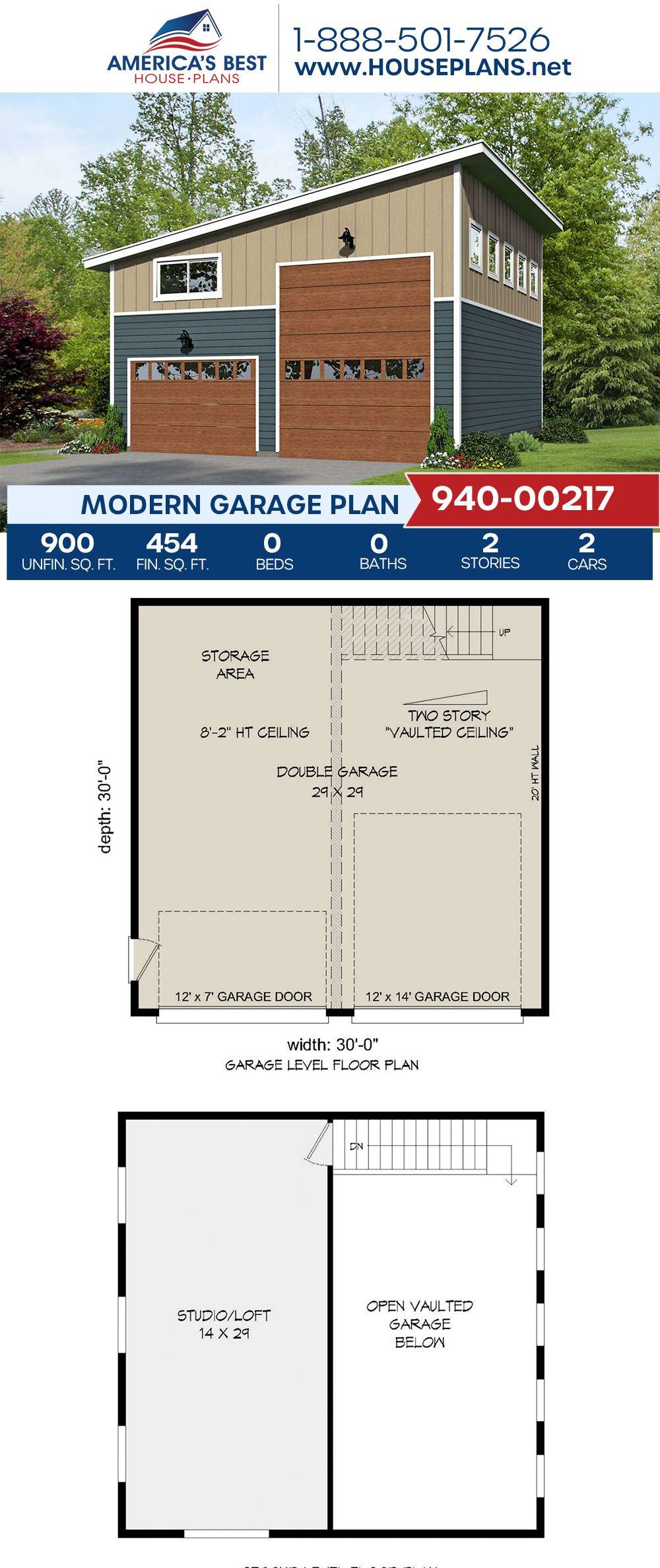 House Plan 940 00217 Modern Plan 454 Square Feet House Plans Modern House Plans Modern Garage