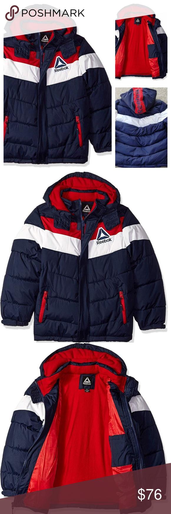 Nwt Reebok Boys Winter Puffer Jacket Hooded Size 8 Clothes Design Winter Puffer Jackets Fashion [ 1740 x 580 Pixel ]