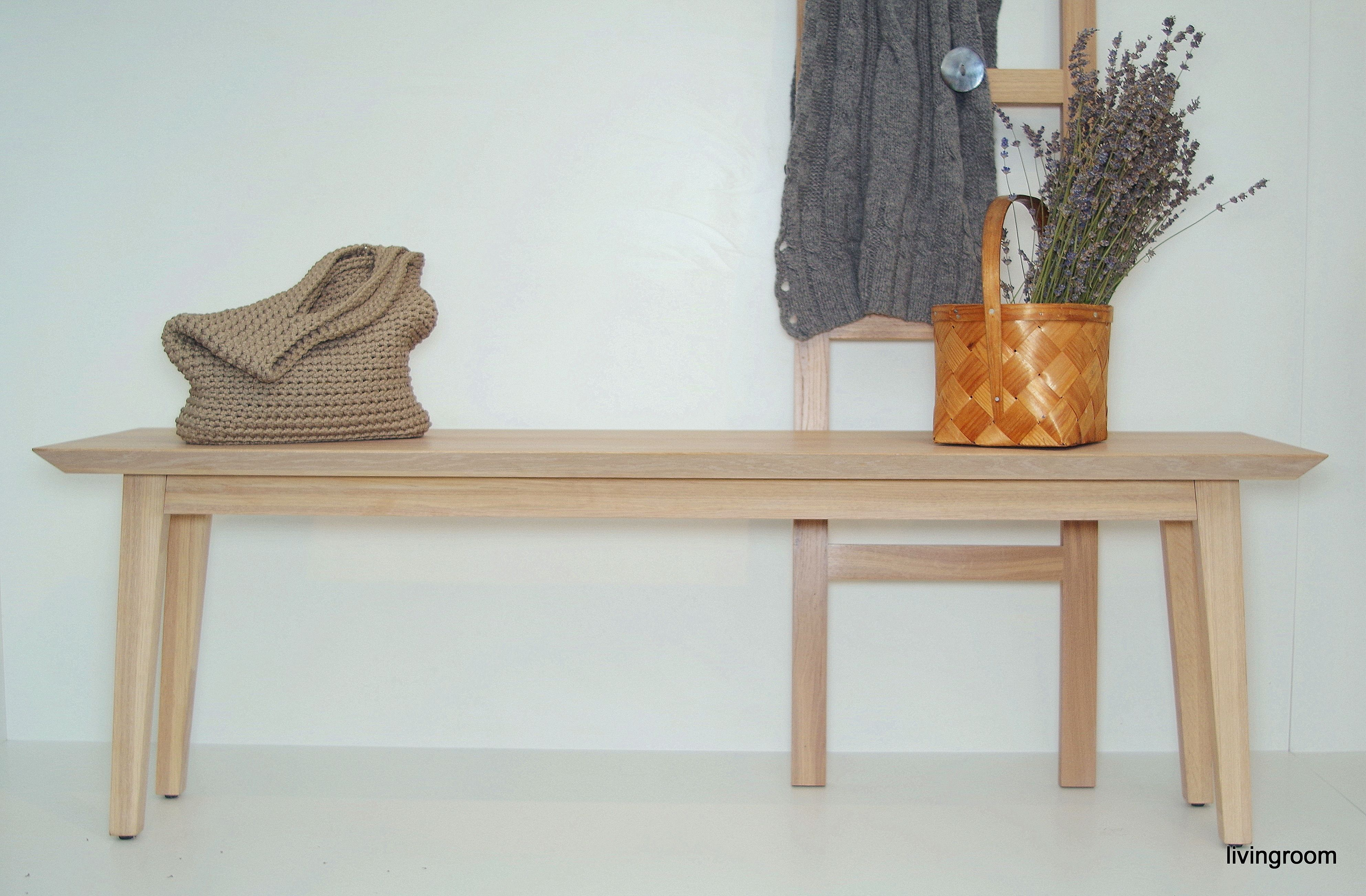Scandinavian Design Wooden Bench Side Table Wood Mid Century Modern Coffee Table Mid Century Coffee Table